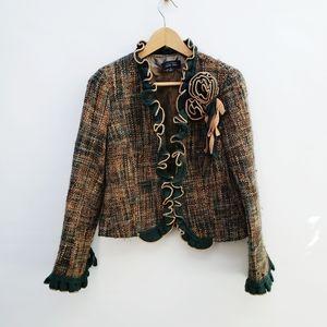 Vtg Rickie Freeman for Teri Jon Tweed Wool Jacket